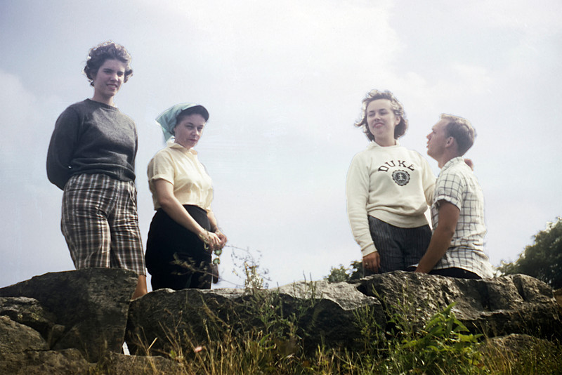 Judy , Mother, Lani & Emmett on Blue Ridge Mt camping trip in the summer of 1958.