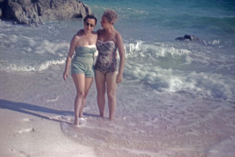 Mother and a friend in the Bahama's. 1961.