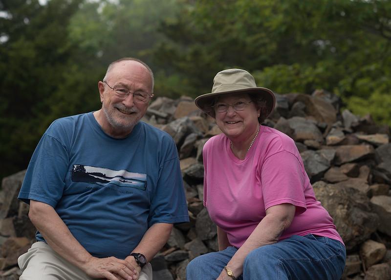 Bob & Nancy at the Summit of Bar Island