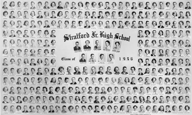 025 1956 Class Pic Stratford Jr High