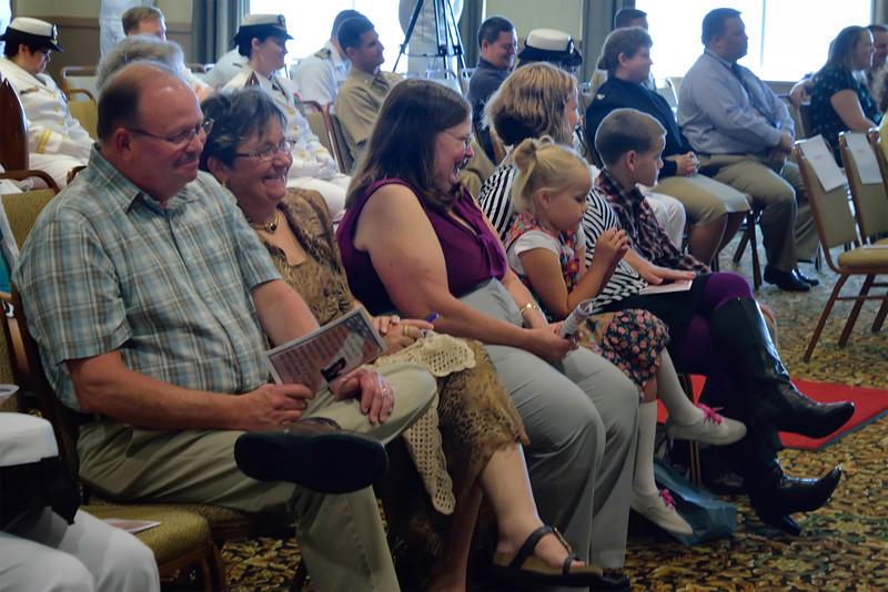 Family Row: Jeff and Kathy Snyder, Katie Turner, Sadie, Amber & Phillip Turner