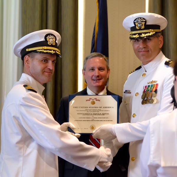 Commanders Turner & Lenderman and Captain Donegan