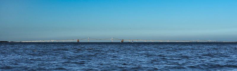 The Chesapeake Bay Bridges Against a Near Perfect Sky