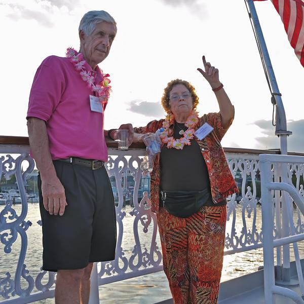 Tony Johnson and Judy at Joint 70th Birthday Party.