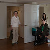 Nancy Hybner Murphy (W-L '59) and Judy Inspect Her Independent Living Apartment.