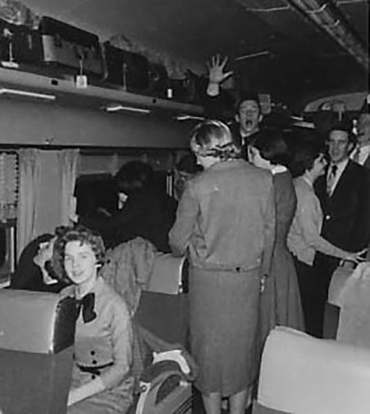 Judy on the Train
