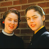 Judy & Ann in 1956. Easter??