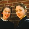 Judy & Ann in 1956. Easter??