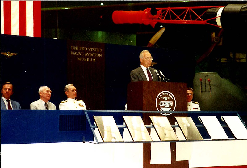 Judy's Father, George Spangenberg,  Inducted into the Naval Aviation Hall of Fame