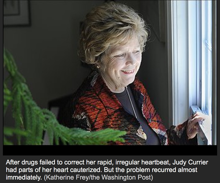 Picture from Washington Post Artilce on A-Fib