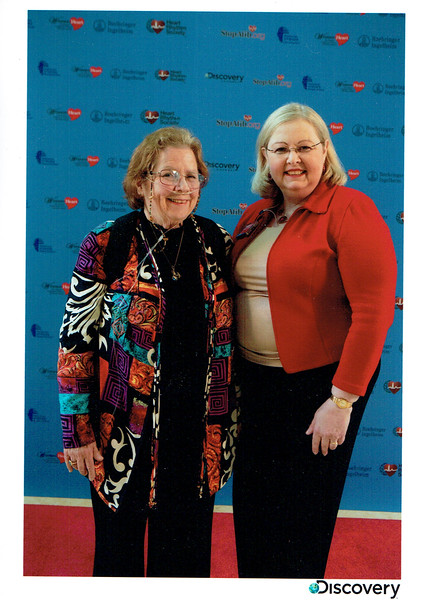 Judy Pictured with Mellanie Hills of the A-Fib Group at the Discovery Channel