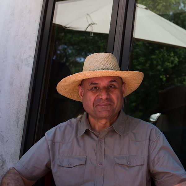 Mohamed with John's hat