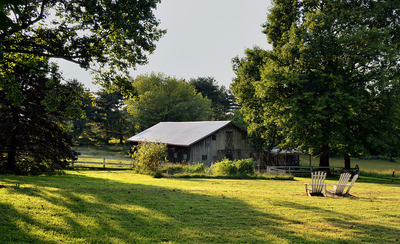 The Barn at the Tag-Varela Farm in the Golden Hour<br /> Fork, MD