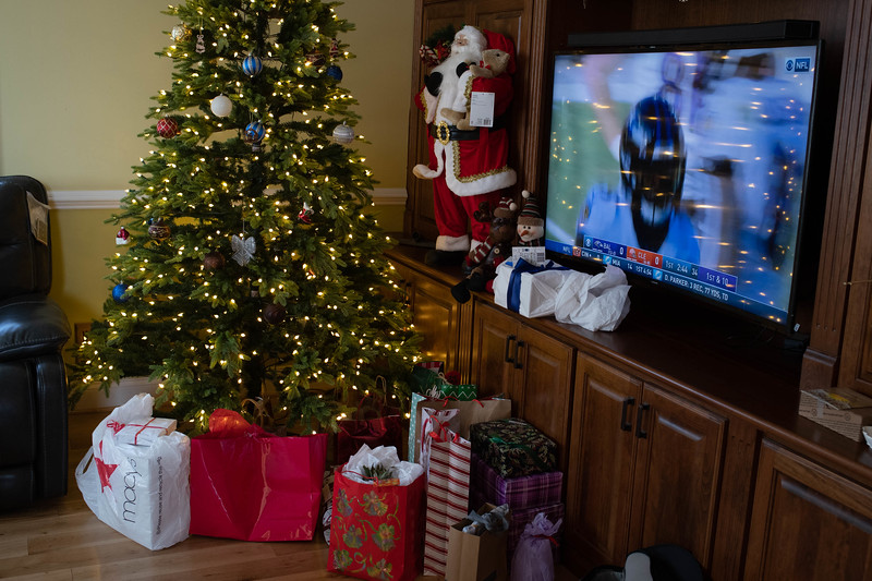 Christmas Presents from the Secret Santas - And Football Dominate the Living Room