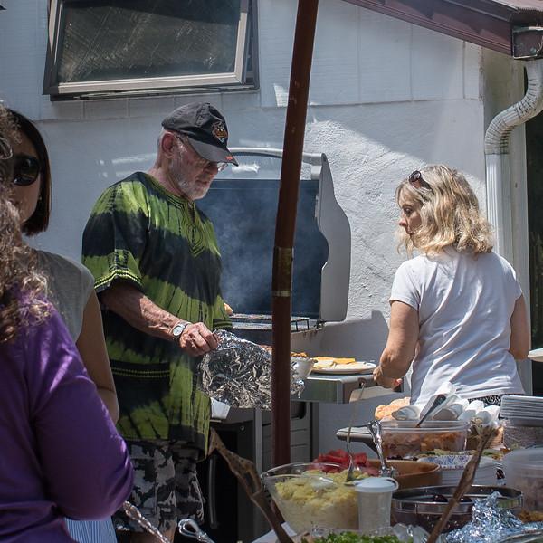 Chef John and customer Anne.