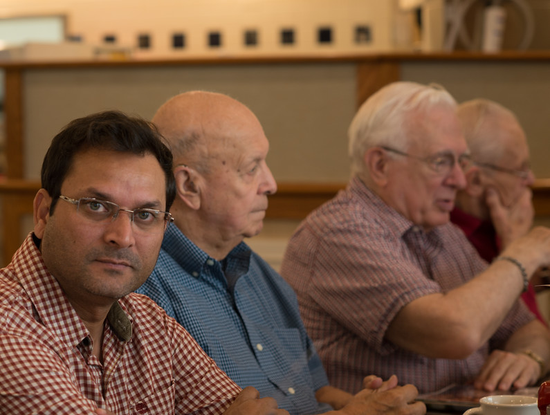 Nadeem with Rudy, John and Tim