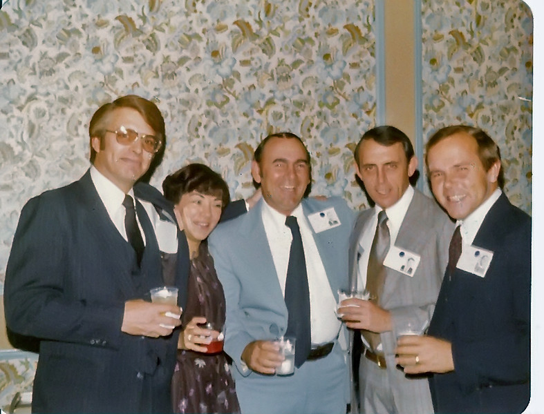 1979 Jamie Booth, Barbara Carroll (Danny's wife), Bob Jones, Henry Colavito, Danny Carroll
