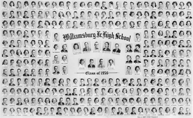 066 1956 Class Pic Williamsburg Jr High