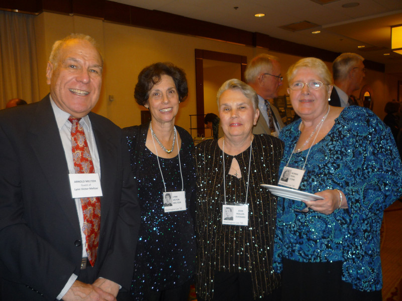 Arnie and Lynn (Victor) Meltzer, Jean Holler and Norma Pope
