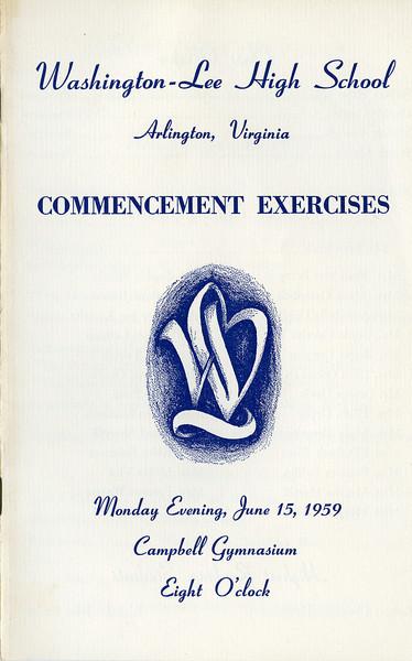 198 1959 W-L Graduation Bul 1