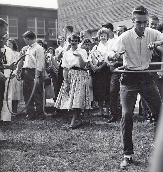 144 1958 Bob Allison in Hula Hoop Contest