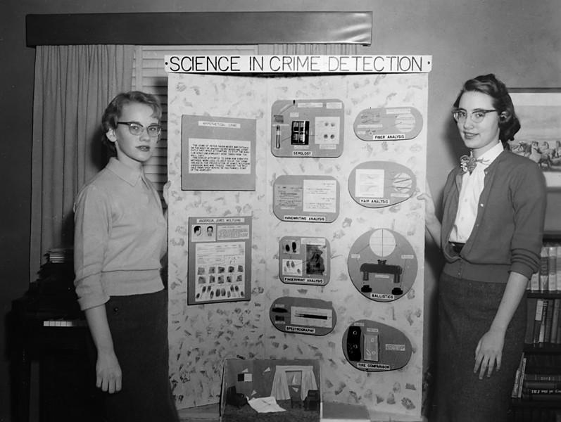 163 1957 Sci Fair Kay Thompson Betsy Holland