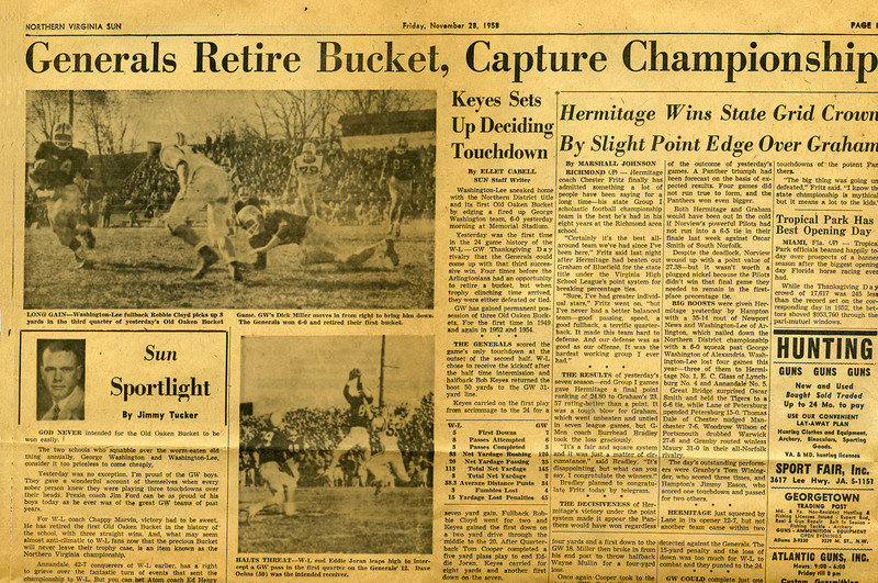 150 1958 W-L Retires Old Oaken Bucket A
