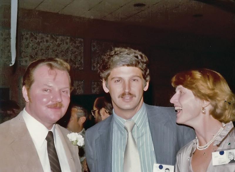214 1979 20th Reunion Frank Cook, Ed Joran, Sally Crook