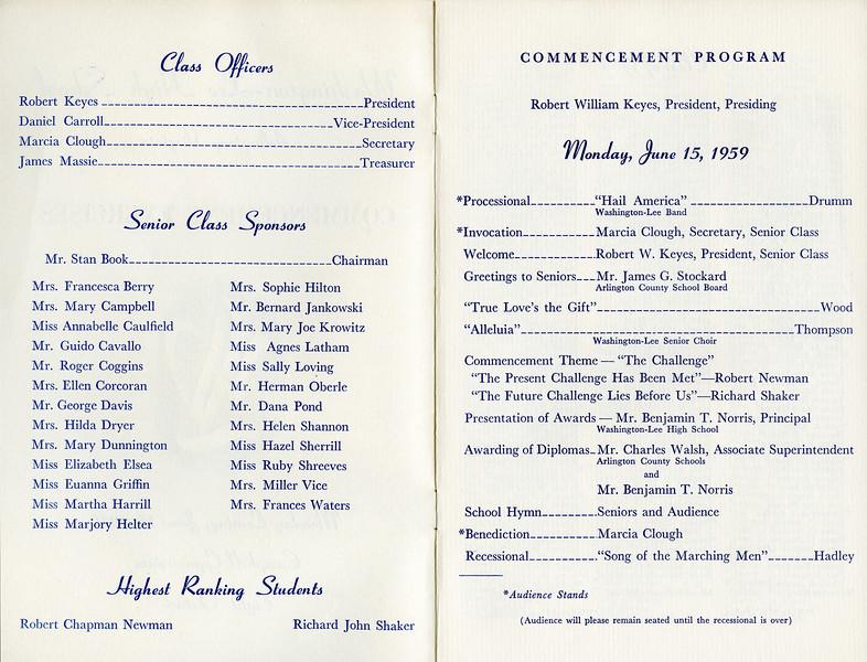 199 1959 W-L Graduation Bul 2-3