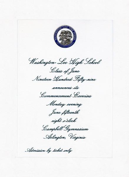 197 1959 Graduation Announcment Color