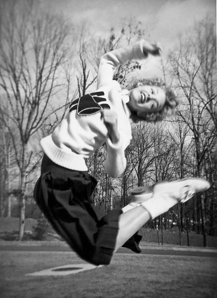 149 1955 Carol Brockway W in mid-air