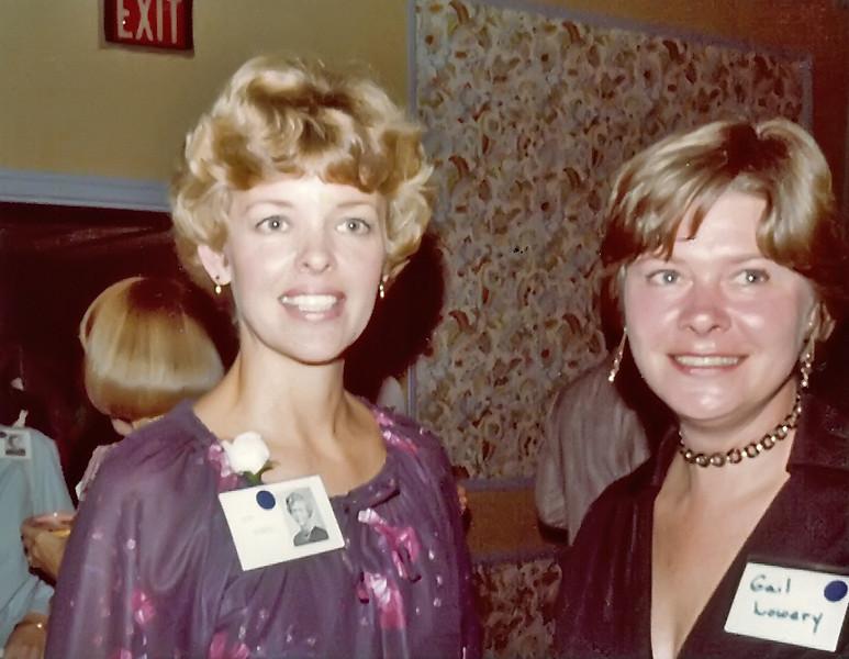 218 1979 20th Reunion Carol Brockway, Gail Lowery