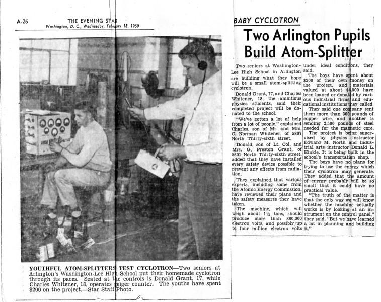 165 1959 W-L Students Build Cyclotron