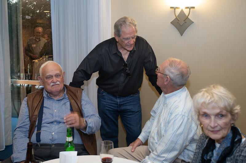Lee Havener, Clyde Maghan, Tom Barton & Irene Speakes. (John Tankard & Carol Brockway in the Reflection.)