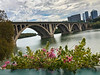 The Old Key Bridge and the New Rosslyn from the Potomac Boat Club