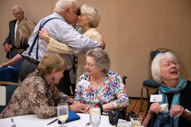 3 Conversations at Once: Lana Shirley Hathaway & Nancy Hybner Murphy, Lee Havener & Irene Speaks Hanley, and Diane Rucker Shepherd & an Unknown Person of Camera