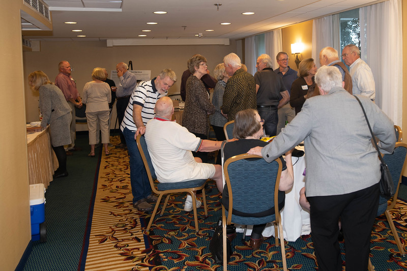 A Couple of Dozen Classmates Gathered at The Hospitality Suite on Friday Afternoon