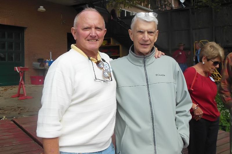 Crew buddies Jim Blamphin and Frank Benson. Picture supplied by Jim Blamphin.