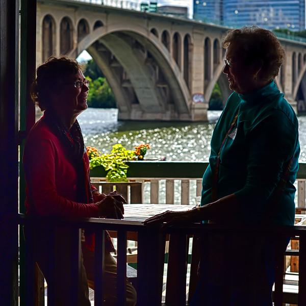 Elaine Kuntz and Diane van Winkle Bacon recall the good old days.