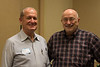 A band reunion begins with Phil Fansler and Bob Murphy. Or is it a wrestling reunion? See next image.
