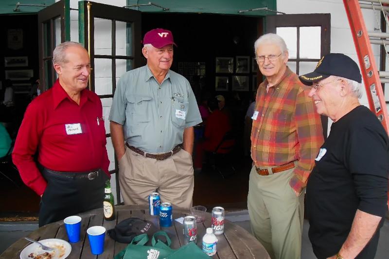 Phil Fansler, Mark Childers, Ed Joran, and Hank Colavita at the PBC. Picture by Jim Blamphin.