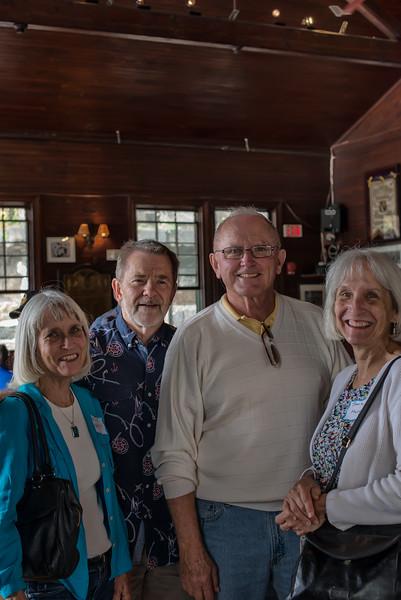 Jackie & Jeanie surround Don Keyes and Jim Blamphin.