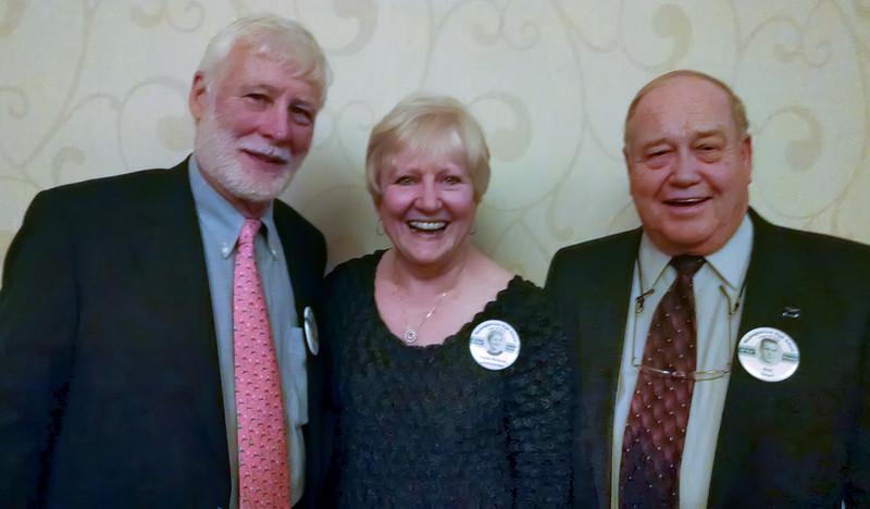 Madrigals reunion, part 1 of 2. Joe Snyder, Bonnie Peterson Greutzmacher, & Neil Smart at the reunion. Picture provided by Bonnie.