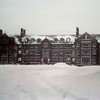 Riley Hall in the Snow