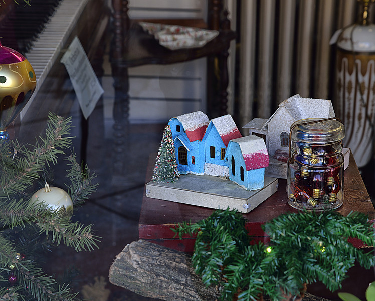 A Christmas Village House from the Forties