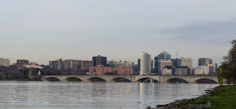 Memorial Bridge and the Arlington Skyline