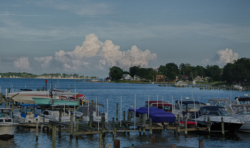 View from Wharam's Wharf #1<br /> August 2012<br /> (Simulated Oil Painting)