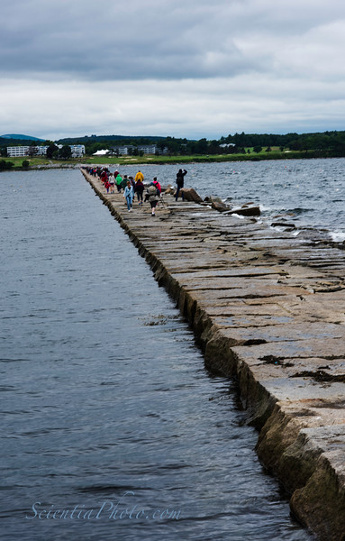 The Breakwater at Rockland, Maine