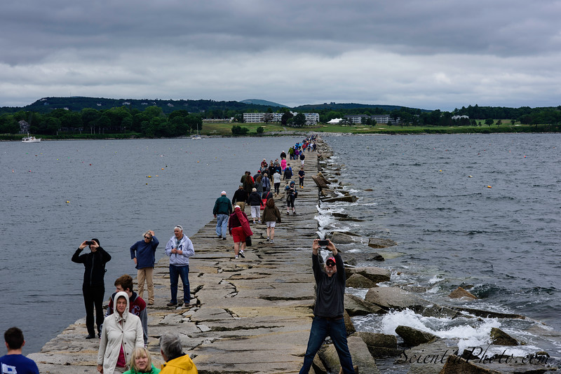 Spectators Begin the Mile-Long Trek Back to the Shore