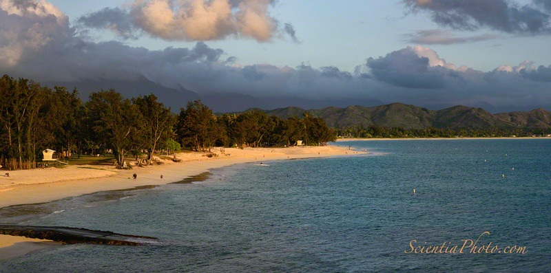 Kailua Beach from Lanikai Point in the Golden Hour